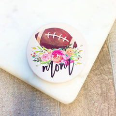 Football Mom Set of Two Car Coasters