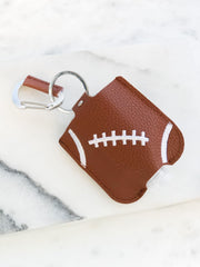 Hand Sanitizer & Air Pod Case Key Chain - Football