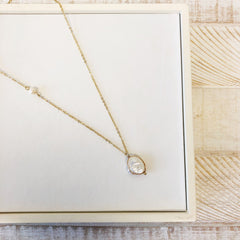 Dainty Freshwater Pearl Pendant Necklace