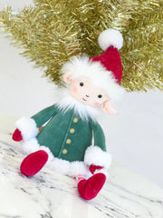 christmas elf stuffed animal by Jellycat