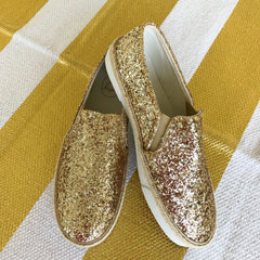 Tucker Slip On Sneaker - Gold Glitter by Jack Rogers
