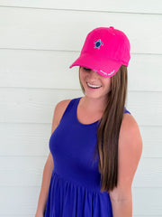 Pink Turtle Baseball Hat by Simply Southern