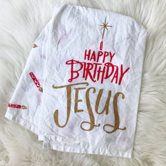 Happy Birthday Jesus Christmas Towel by PBK