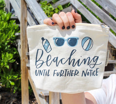 Beaching it until further notice makeup bag by PBK