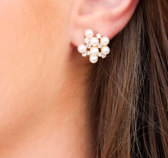 Pearl Cluster Earrings at Prep Obsessed