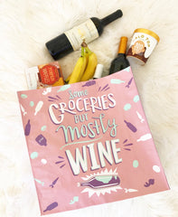 'Some Groceries, but Mostly Wine' Daily Market Tote by PBK