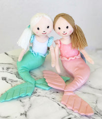 Plush Shellbelle Mermaid Stuffed Animal (Pink or Mint) by Jellycat