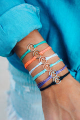 Gold Wave Charm Bracelet by Pura Vida - Choice of Color