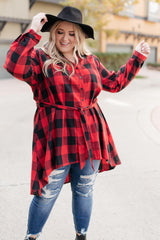 Great And Grand Plaid Top (Ships in 1-2 Weeks) - 11/30