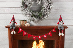 'So Merry' Gnome Mantle Banner by Mud Pie