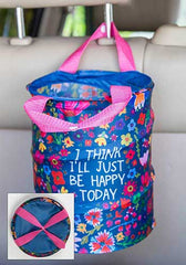'Happy Today' Pop Up Car Trash Bin