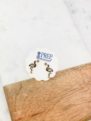 Halloween Flamingo Signature Enamel Studs by Prep Obsessed - Skeleton