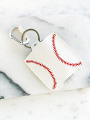 Hand Sanitizer & Air Pod Case Key Chain - Baseball