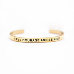 'Have Courage and Be Kind' Cuff Bracelet by Lillian & Co.