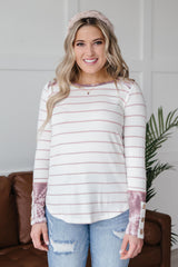 Haylie Striped Top - 3/4
