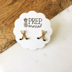 Hockey Signature Enamel Studs by Prep Obsessed