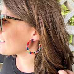 Demi Acrylic Hoop Earrings - Multi