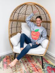 'Just Peachy' Crewneck Sweatshirt by Simply Southern