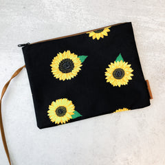 Sunflower Print Wet/Dry Bag Wristlet by Simply Southern