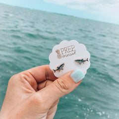 Shark Signature Enamel Studs by Prep Obsessed