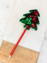 Christmas Tree Color Changing Sequin Pens  - Choice of Color