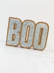 'Boo' Corrugate Cut Out Sign
