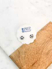 Petite Pave Soccer Stud Earrings