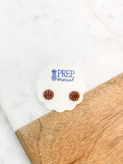 Petite Pave Basketball Stud Earrings