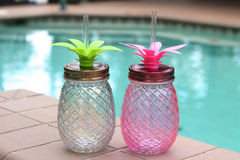 Glass Pineapple Shaped Sipper (Ships in 3-4 Weeks)
