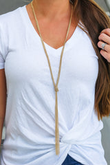 Landry Long Knotted Chain Rope Necklace