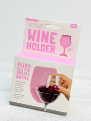 Shower & Bath Wine Holder - Light Pink