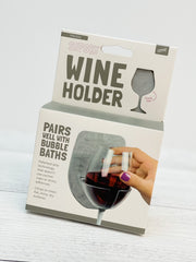 Shower & Bath Wine Holder - Marble Grey