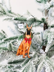 'Christmas Great Dane' Dog Ornament by PBK