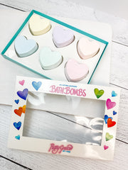Heart Bath Bombs Gift Box