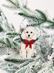 'Christmas Poodle' Dog Ornament by PBK
