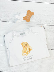 Yellow Lab Crawler and Bib Set by Mud Pie