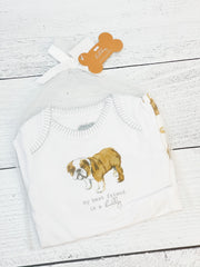 Bulldog Crawler and Bib Set by Mud Pie