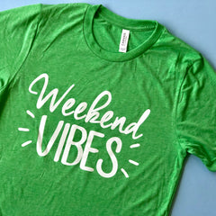 Weekend Vibes Short Sleeve Graphic Tee (2 week production time)