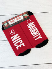 'Naughty Or Nice' Non-Slip Holiday Socks by Simply Southern