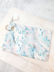 Silicone Pouch by O-Venture - Pastel Marble
