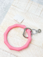 O-Venture Silicone Key Ring - Cotton Candy Bamboo