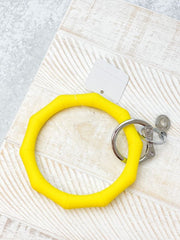 O-Venture Silicone Key Ring - Yes Yellow Bamboo