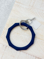 O-Venture Silicone Key Ring - Midnight Navy Bamboo
