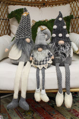 Deluxe Neutral Dangle Leg Gnomes by Mud Pie - Choice of Size
