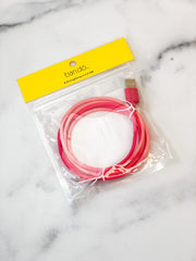Back Me Up Charging Cord - Hot Pink Tie Dye