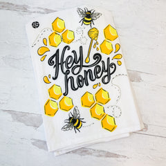 'Hey Honey' Dish Towel by Simply Southern