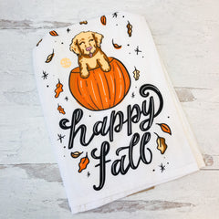 'Happy Fall' Dish Towel by Simply Southern