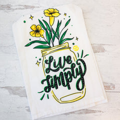 'Live Simply' Dish Towel by Simply Southern