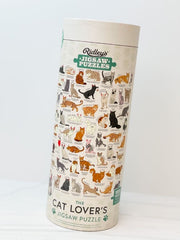 Cat Lovers Jigsaw Puzzle 1000 Piece - Cream