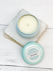 Volcano Signature Aqua Mini Tin Candle by Capri Blue